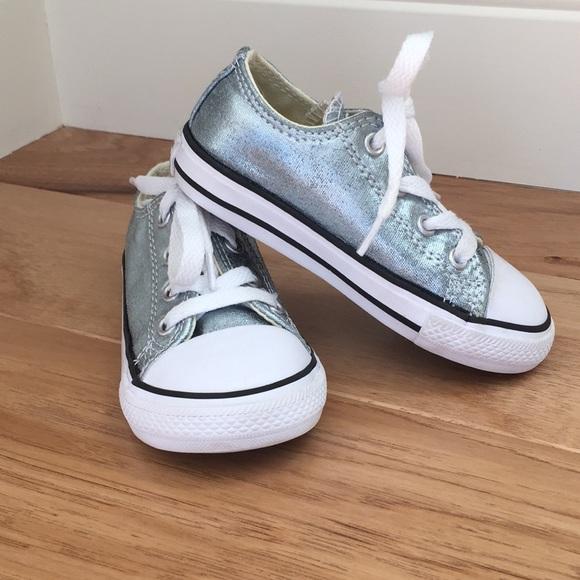 abc3abb8b68f Converse Other - Kids silver converse all stars size 7